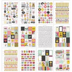 Carnet de stickers pour planner Carpe Diem EMOJI LOVE