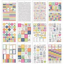 Carnet de stickers pour planner Carpe Diem FITNESS