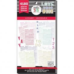 Carnet de stickers Create 365 ALPHABET