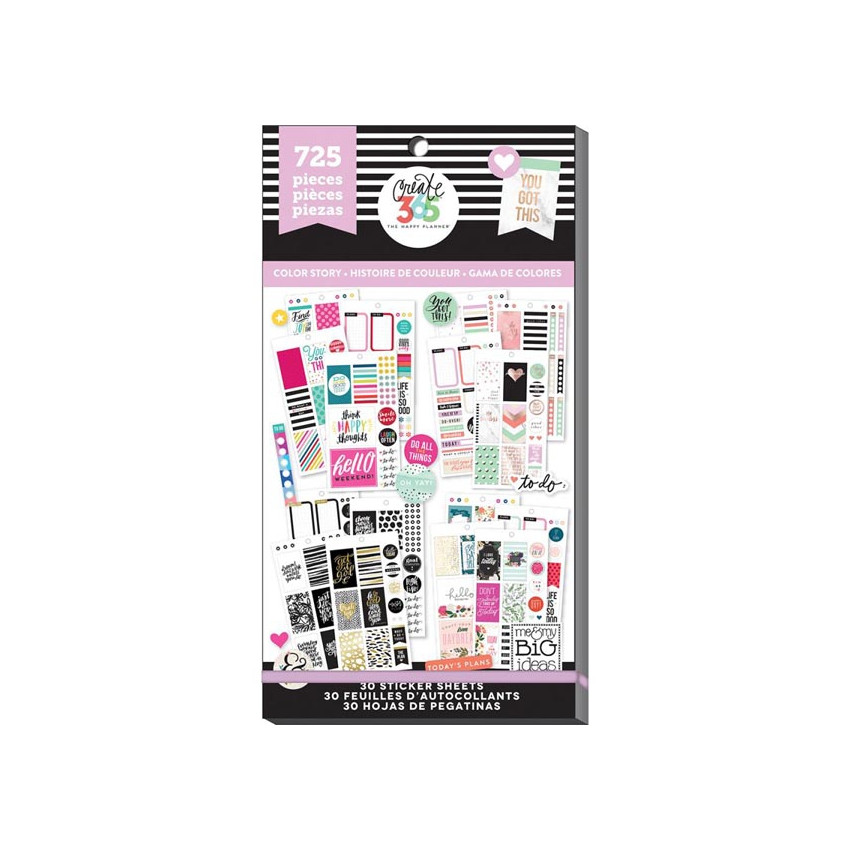 Carnet de stickers Create 365 COLOR STORY