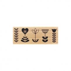 Tampon bois LIGNÉE FLORALE par Florilèges Design. Scrapbooking et loisirs créatifs. Livraison rapide et cadeau dans chaque co...