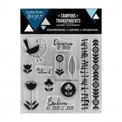 Tampons Clear ESPRIT SCANDINAVE par Florilèges Design. Scrapbooking et loisirs créatifs. Livraison rapide et cadeau dans chaq...