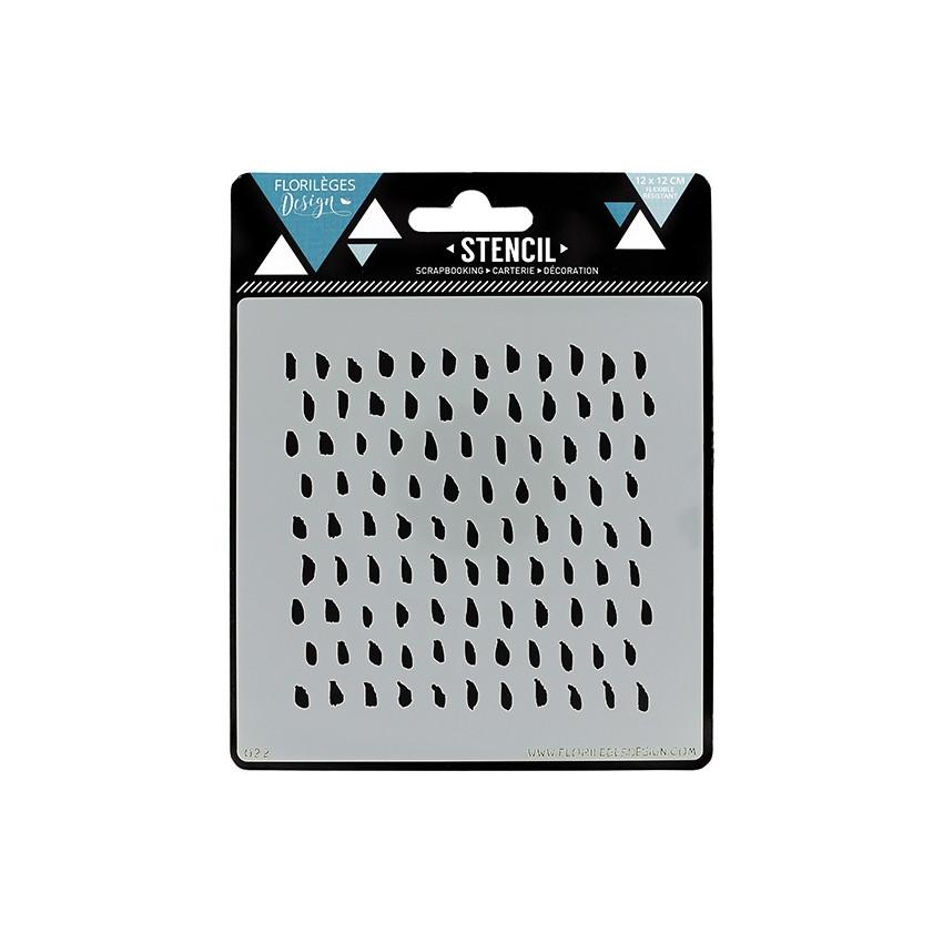 Pochoir PAR PETITES TOUCHES par Florilèges Design. Scrapbooking et loisirs créatifs. Livraison rapide et cadeau dans chaque c...