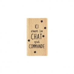 Tampon bois C'EST LE CHAT par Florilèges Design. Scrapbooking et loisirs créatifs. Livraison rapide et cadeau dans chaque com...