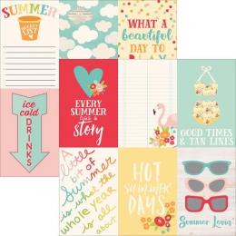 Papier imprimé Summer Days 4x6 VERTICAL ELEMENTS