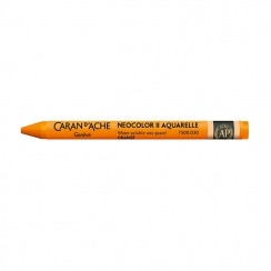 Pastel aquarellable Neocolor II ORANGÉ par Caran d'Ache. Scrapbooking et loisirs créatifs. Livraison rapide et cadeau dans ch...