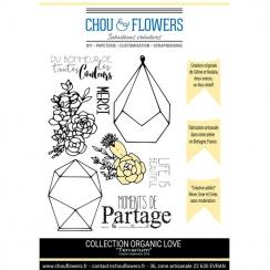 Tampons non montés TERRARIUM par Chou and Flowers. Scrapbooking et loisirs créatifs. Livraison rapide et cadeau dans chaque c...