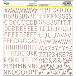 Alphabet stickers puffy LIVE MORE