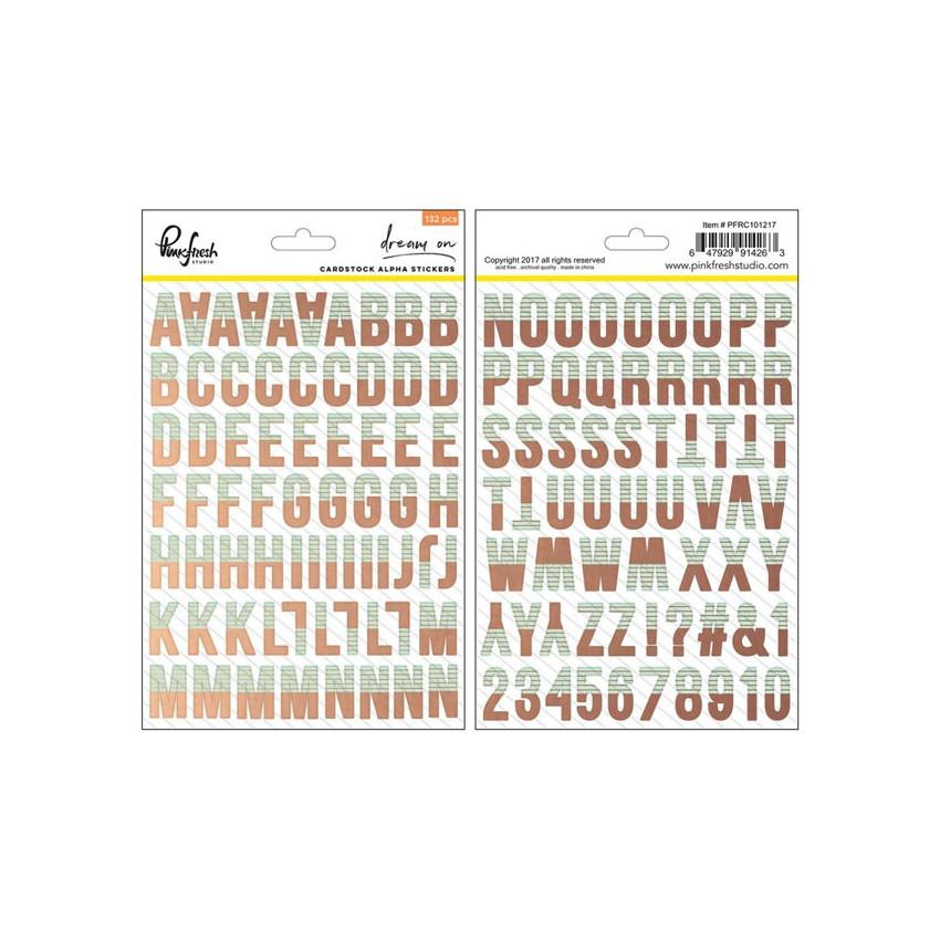 Alphabet stickers cuivré DREAM ON