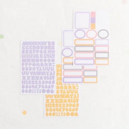 Stickers Etiquettes et Alphabet PASTEL