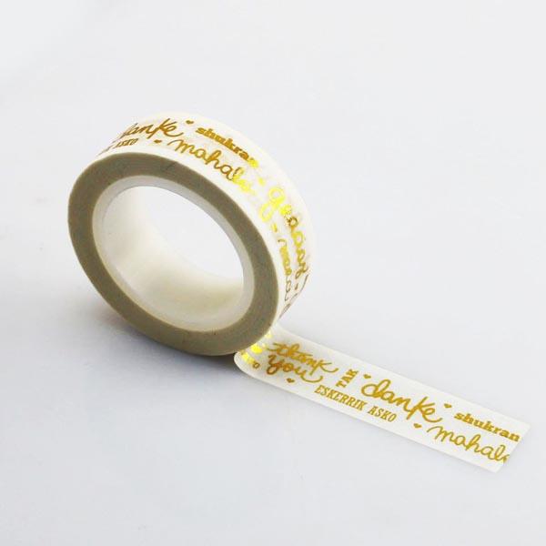 Masking Tape MERCI GRACIAS OR