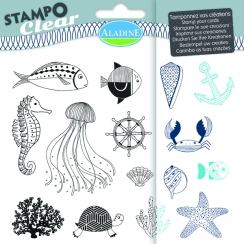 Tampons Transparents STAMPO CLEAR POISSON