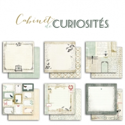 Pack de papiers imprimés collection CABINET DE CURIOSITÉS