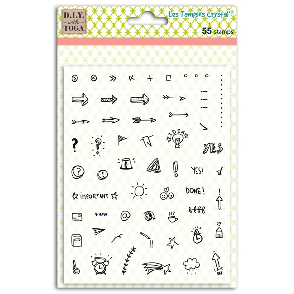 Tampons clear Bullet Journal ICONES