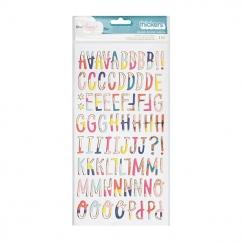 Alphabet chipboard Dear Lizzy LOVELY DAY