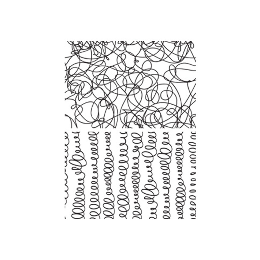 Tampons non montés SCRIBBLES AND SPIRALS