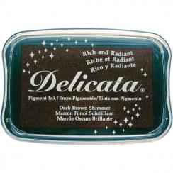 Parfait pour créer : Encre pigment Delicata DARK BROWN SHIMMER par Tsukineko. Livraison rapide et cadeau dans chaque commande.