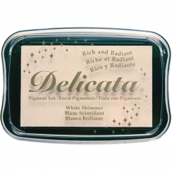Encre pigment Delicata WHITE SHIMMER par Tsukineko. Scrapbooking et loisirs créatifs. Livraison rapide et cadeau dans chaque ...