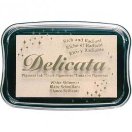 Encre pigment Delicata WHITE SHIMMER