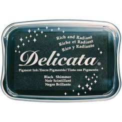 Parfait pour créer : Encre pigment Delicata BLACK SHIMMER par Tsukineko. Livraison rapide et cadeau dans chaque commande.