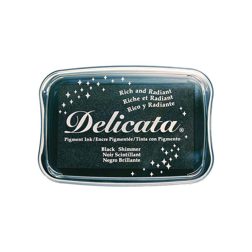 Encre pigment Delicata BLACK SHIMMER par Tsukineko. Scrapbooking et loisirs créatifs. Livraison rapide et cadeau dans chaque ...
