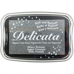 Encre pigment Delicata SILVERY SHIMMER par Tsukineko. Scrapbooking et loisirs créatifs. Livraison rapide et cadeau dans chaqu...
