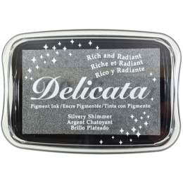 Encre pigment Delicata SILVER SHIMMER