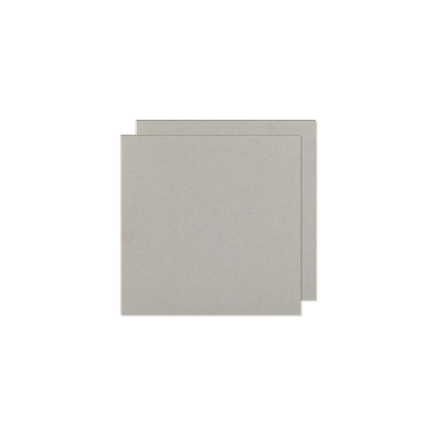 Plaques de carton gris 15 x 15 cm