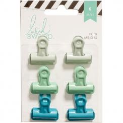 Pinces clips bleues et vertes