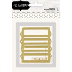 Porte-étiquettes rectangles dorés