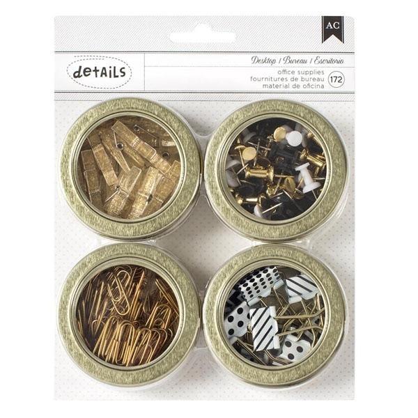 Set de fournitures de bureau dorées GOLD