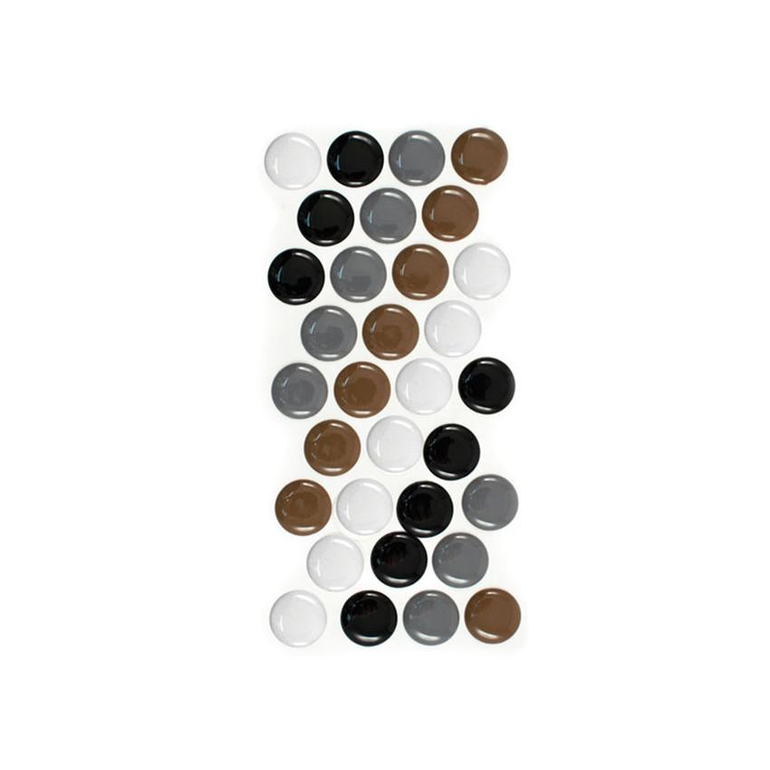Grands dots couleurs neutres