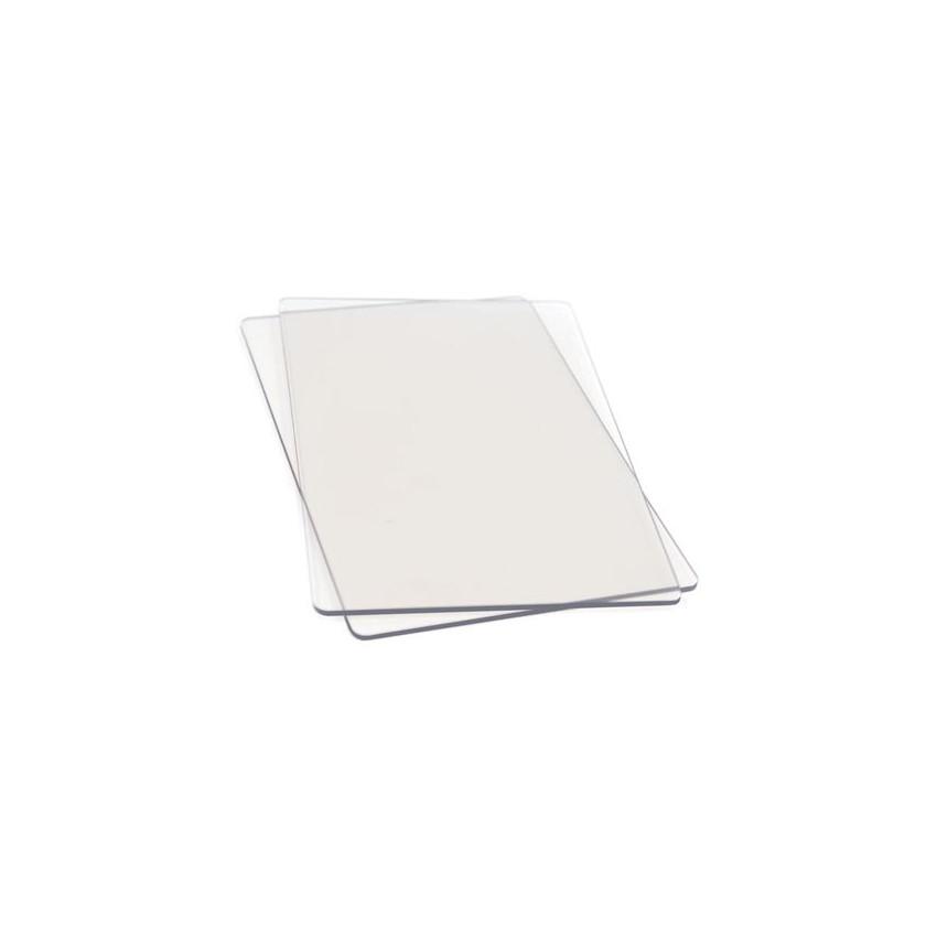 Jeu de 2 plaques transparentes de rechange pour Big Shot par Sizzix. Scrapbooking et loisirs créatifs. Livraison rapide et ca...