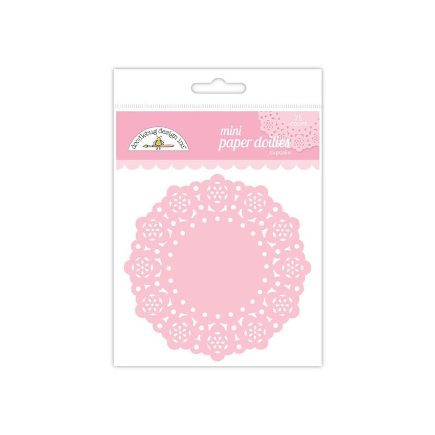 Mini napperons roses CUPCAKE