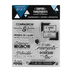 Tampons clear COMPAGNON FIDÈLE- Capsule Juin 2017 par Florilèges Design. Scrapbooking et loisirs créatifs. Livraison rapide e...