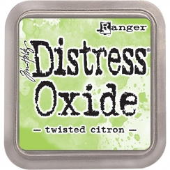 Encre Distress OXIDE TWISTED CITRON par Ranger. Scrapbooking et loisirs créatifs. Livraison rapide et cadeau dans chaque comm...