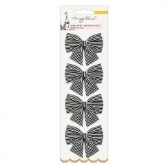 Nœuds en tissu noir et blanc CAROUSEL