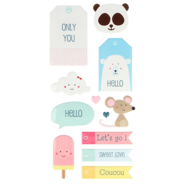 Stickers Puffy XL ADORABLE