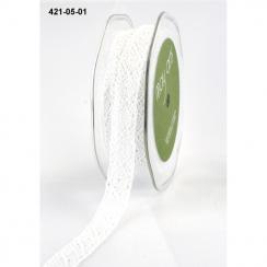 Dentelle coton blanche