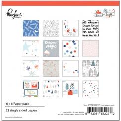 Bloc papiers imprimés 15 x 15 cm collection DECEMBER DAYS