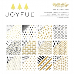 Bloc papiers imprimés 15 x 15 cm collection JOYFUL