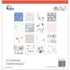 Pack papiers imprimés 30,5 x 30,5 cm collection DECEMBER DAYS
