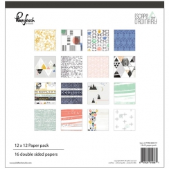 Pack papiers imprimés 30,5 x 30,5 cm collection ESCAPE THE ORDINARY