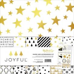 Pack papiers imprimés 30,5 x 30,5 cm collection JOYFUL
