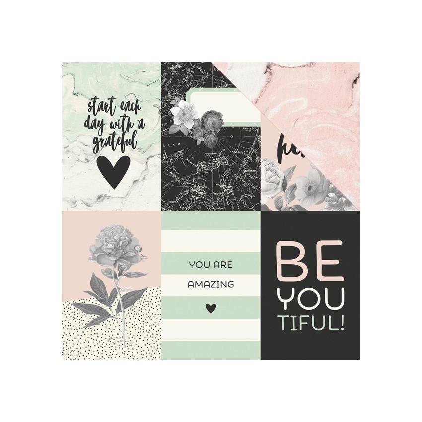 Papier imprimé Beautiful 4X6 VERTICAL ELEMENTS