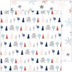 Papier imprimé December Days FESTIVE TREES