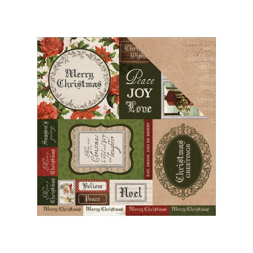 Papier imprimé Letters to Santa BE MERRY