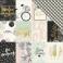Papier motifs métallisés 3X4 ELEMENTS