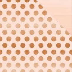 Papier motifs métallisés Blush POLKA DOT