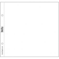Pochettes protectrices pour pages 20 x 20 cm pour classeur